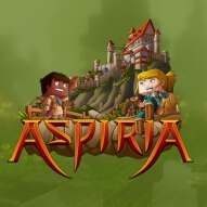 The logo of AspiriaMc, a US minecraft network averaging at 150 online players.